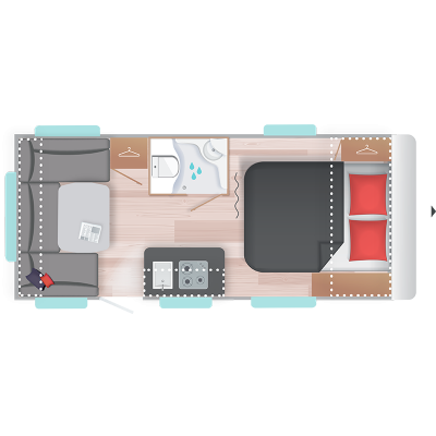 Caravelair Antares Style 470 2020 Nevera XL